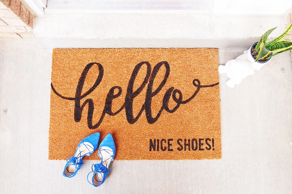 How To Make A Custom Doormat Without A Cricut Machine