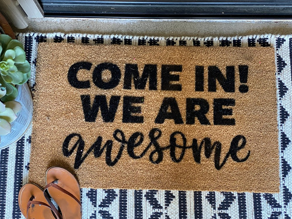 How To Make A Doormat With Silhouette