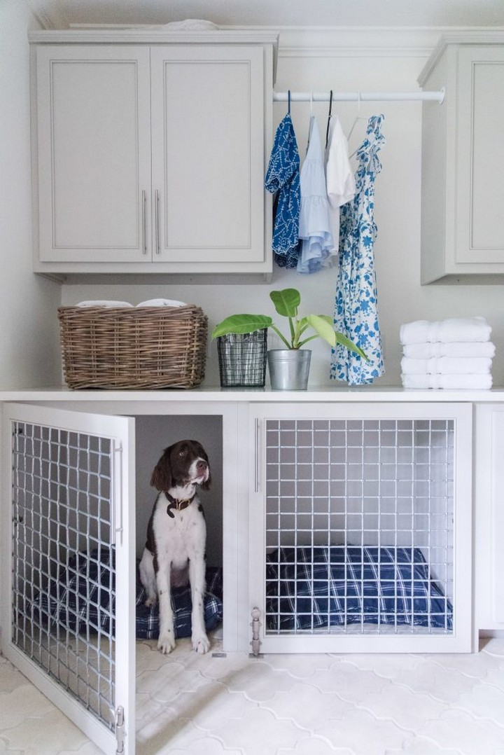 Laundry Room Dog Crate