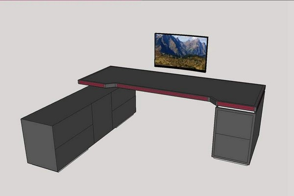 8-Stepped Extreme Gaming table setup
