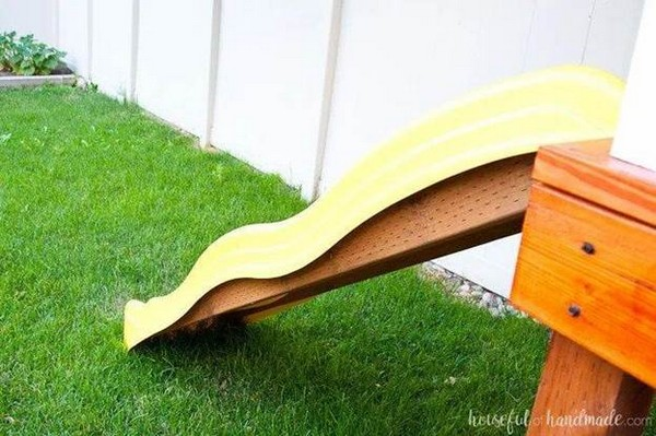 An easy sliding escape to kid's playhouse