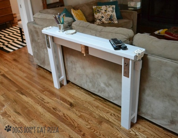 DIY Sofa Table From 2x4s