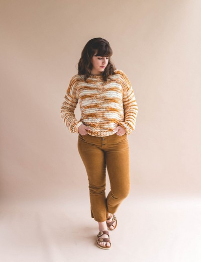Hand Dyed Simple Knit Sweater