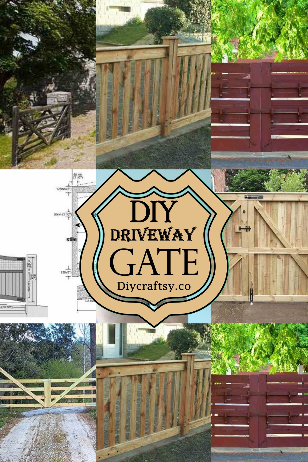 DIY Driveway Gate To Beautify Your Fence 1