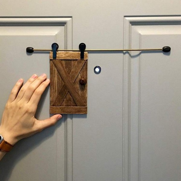 DIY Little Barn Door For Fun And Home Security