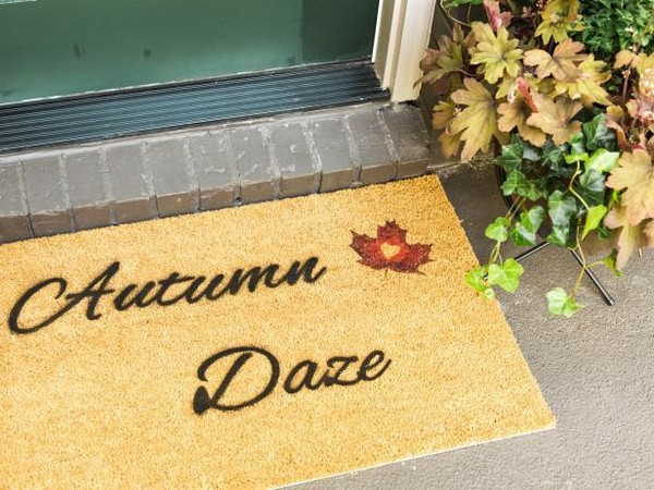 How To Make A Stenciled Fall Welcome Mat